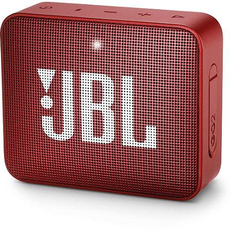 Caixa Multimídia Portátil GO 2 Vermelha JBL