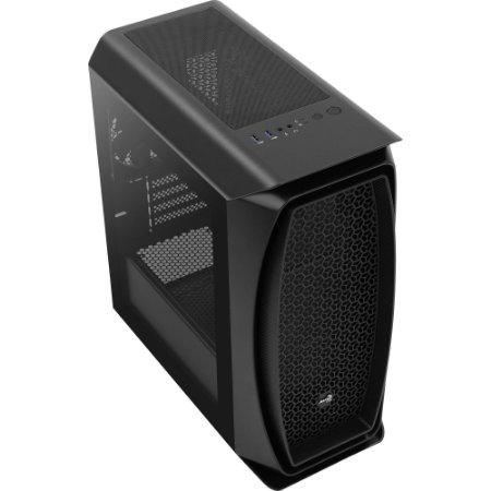 Gabinete Gamer Mini Tower Aero One Mini Preto AEROCOOL