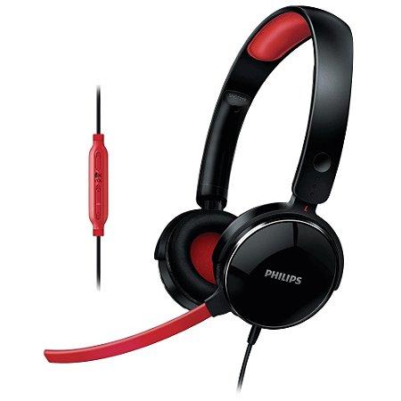 Headset Gamer com Microfone Desencaixável e Controle de Vol