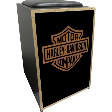 Cajon Acústico Inclinado Profissional K2 COR-007 Harley Dav