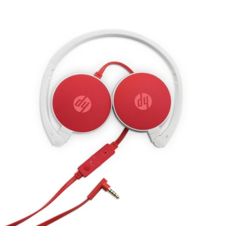 Fone de Ouvido Dobrável Cardinal H2800 Vermelho/Branco HP