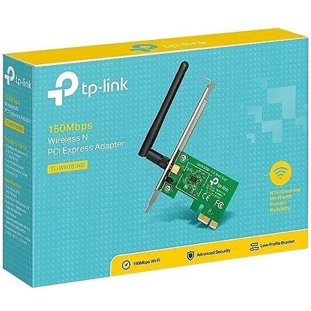 PLACA DE REDE TP-LINK SEM FIO 150MBPS PCI EXPRESS TL-WN781ND