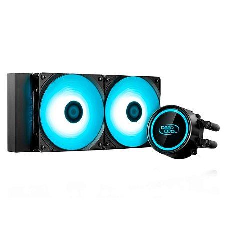 WATERCOOLER DEEPCOOL GAMMAXX L240T BLUE 240MM LED AZUL