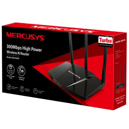 ROTEADOR SEM FIO MERCUSYS 300MBPS HIGH POWER MW330HP