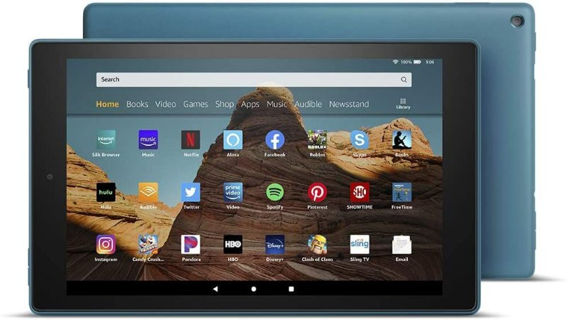 TABLET AMAZON FIRE HD 10 32GB 1080P OCTA-CORE DUAL-BAND AC WIFI DOLBY ATMOS TWILIGHT BLUE
