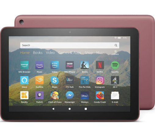 TABLET AMAZON FIRE HD 8 32GB QUAD-CORE DUAL-BAND AC WIFI DOLBY ATMOS TWILIGHT PLUM