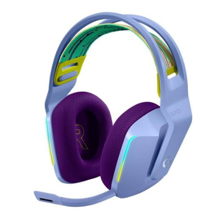 Headset Gamer Sem Fio Logitech G733 Rgb Lightsync 7.1 Lilás