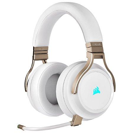 Headset Gamer Corsair Virtuoso Wireless Pearl 7.1 Surround CA-9011224-NA