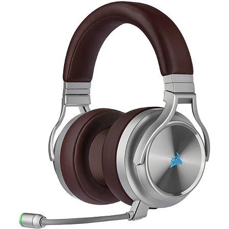 Headset Gamer Corsair Virtuoso Rgb Wireless Se Espresso 7.1 Surround CA-9011181-NA