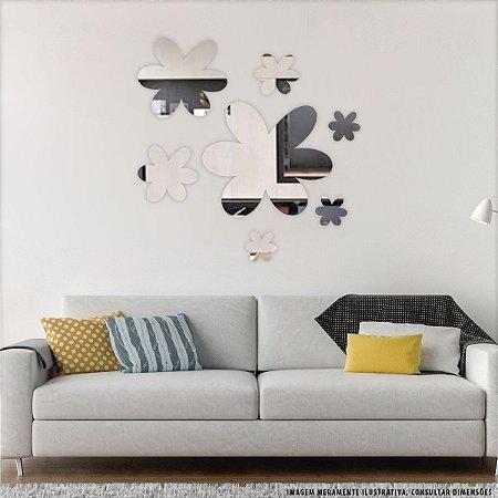 Conjunto decorativo em Acrílico Espelhado - Acácias