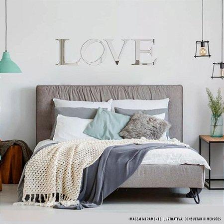 Conjunto decorativo em Acrílico Espelhado - Letras (LOVE)