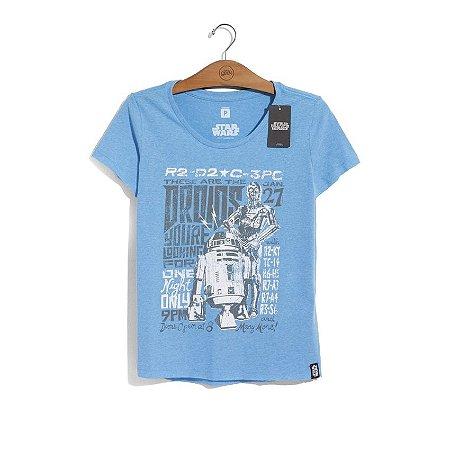 Camiseta Feminina Star Wars Tour Droids