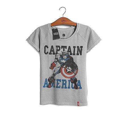 Camiseta Feminina Capitão América - Era de Prata