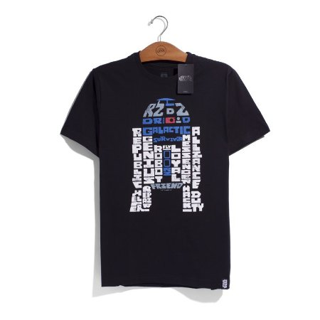 Camiseta Star Wars Droid Words