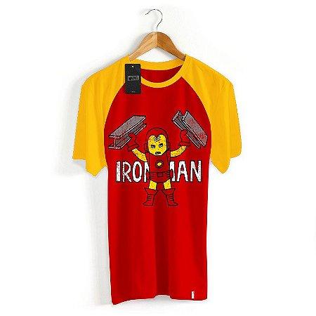 Camiseta Infantil Marvel Homem de Ferro Cartoon