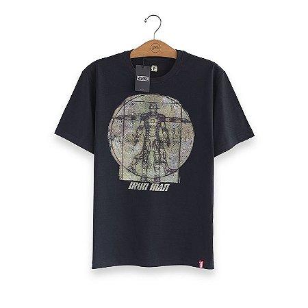 Camiseta Marvel Homem de Ferro Da Vinci