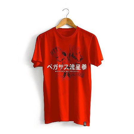 Camiseta Cavaleiros do Zodíaco Golpe Seiya