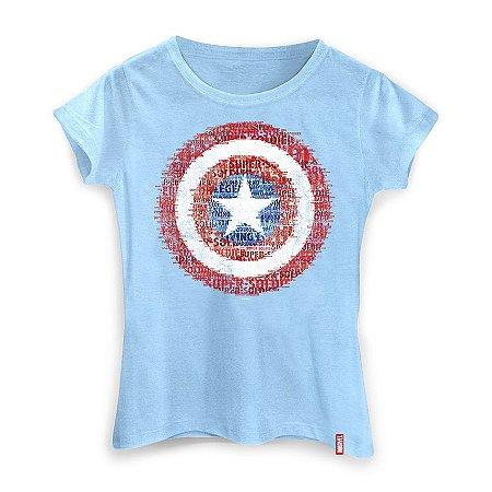 Camiseta Feminina Marvel Escudo Super Soldado
