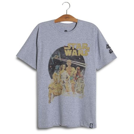 Camiseta Star Wars Old Poster 40th