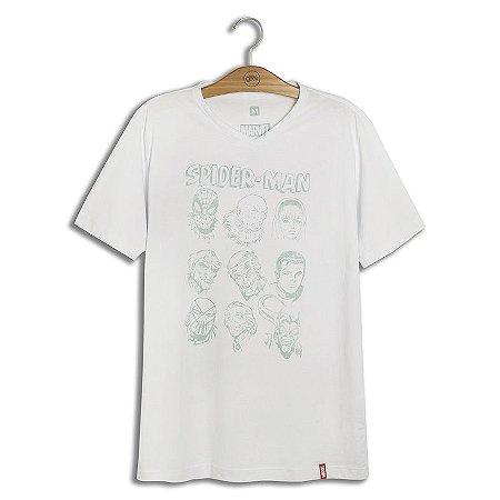 Camiseta Marvel Rostos Homem Aranha