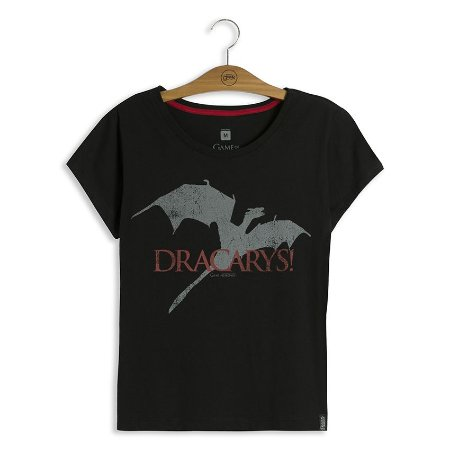Camiseta Feminina Game of Thrones Dracarys