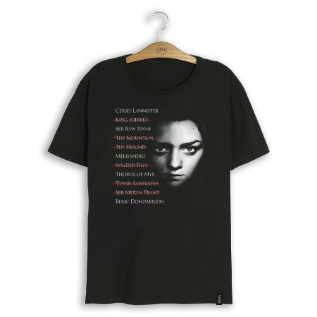 Camiseta Game of Thrones Arya's List
