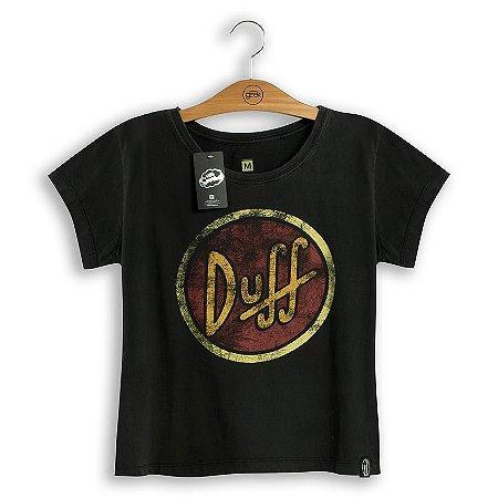 Camiseta Feminina Simpsons Duff Logo