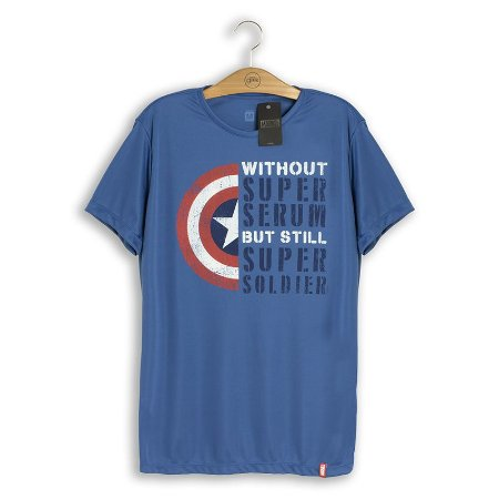 Camiseta Fitness Marvel Super Soldado
