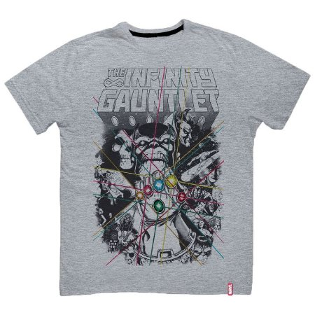 Camiseta Marvel Guerra Infinita Thanos Infinity Gauntlet