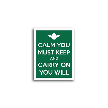 Placa Yoda Carry On You Will