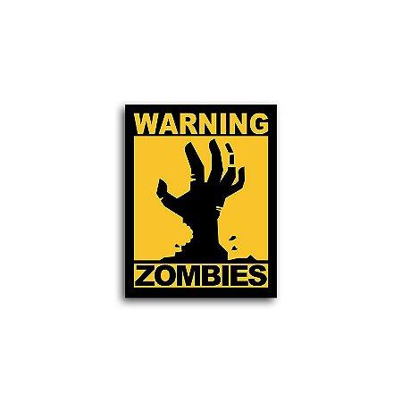 Placa Warning Zombies