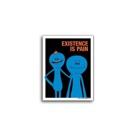 Placa Rick And Morty Existence Is Pain