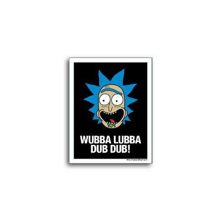 Placa Rick And Morty Wubba Lubba Dub Dub!