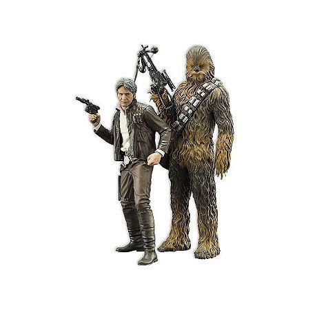 Han Solo & Chewbacca Star Wars VII Pack Art Scale 1/10