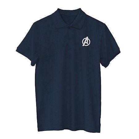 Camiseta Polo Marvel Logo Avengers