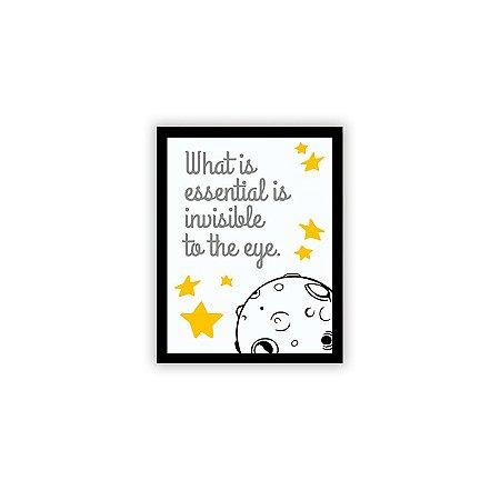 Placa Pequeno Príncipe Invisible To The Eye