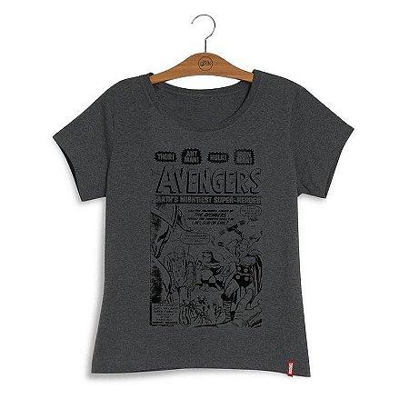 f651fb067e23a Camiseta Feminina Marvel Avengers Vintage - A melhor loja geek com ...