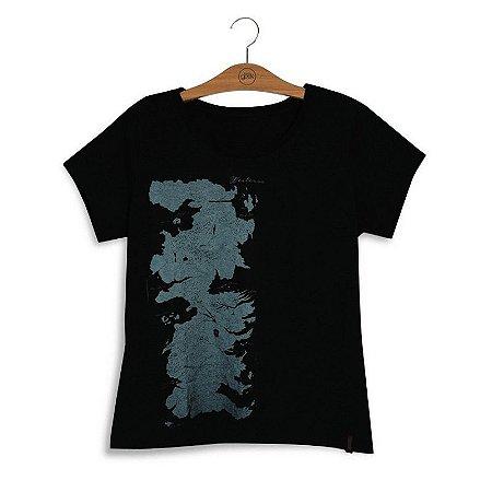 Camiseta Game Of Thrones Mapa de Westeros Feminina