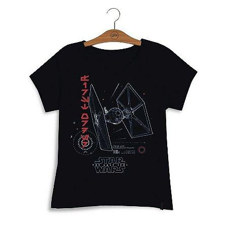 Camiseta Feminina Star Wars Tie Fighter First Order