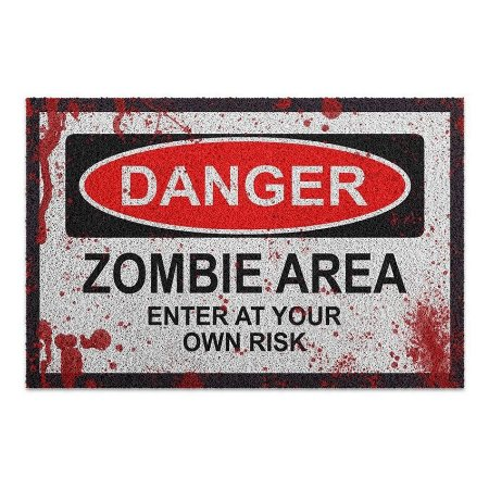 Capacho Vinil Danger Zombie Area