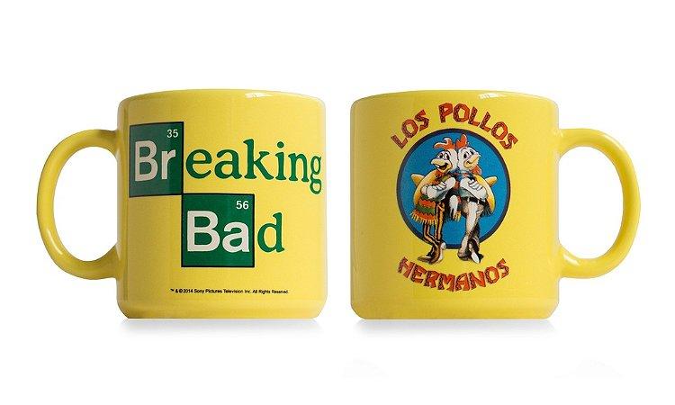 Caneca Los Pollos Hermanos Amarela Breaking Bad