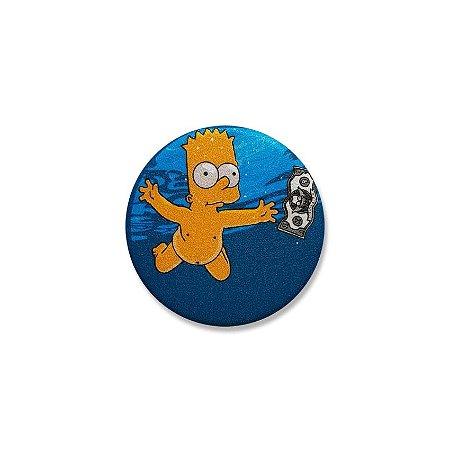 Botton Simpsons Bart Nevermind