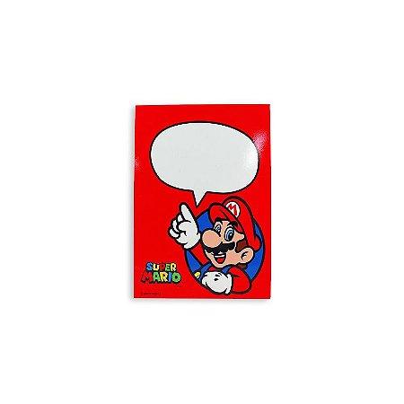Placa Com Caneta Super Mario