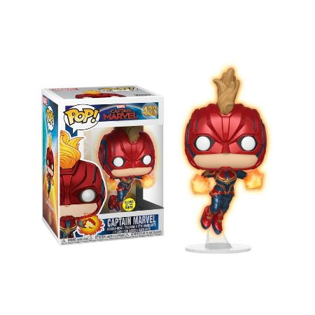 Capitã Marvel - Edição Glows In The Dark - Pop! Funko