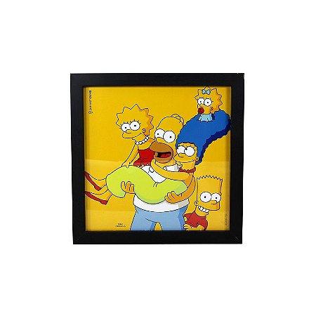Quadro Simpsons Family - 22x22cm