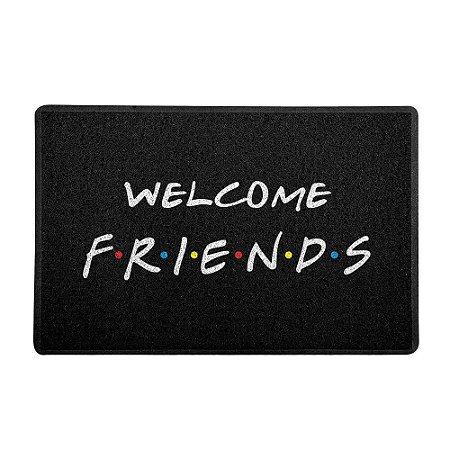 Capacho Vinil Welcome Friends