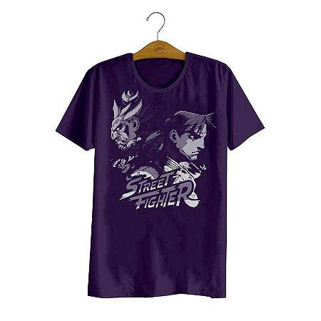 Camiseta Street Fighter Akuma e Ryu