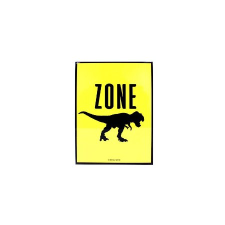 Placa Jurassic Zone