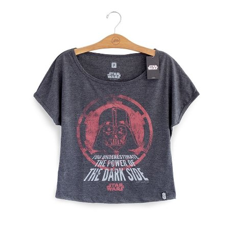 Camiseta Feminina Star Wars The Power of the Dark Side