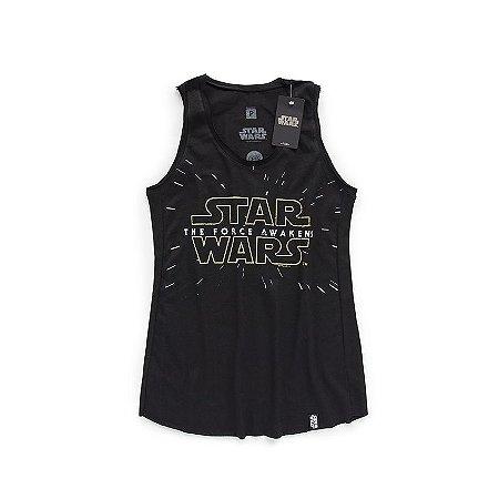 Camiseta Star Wars 7 Logo Feminina